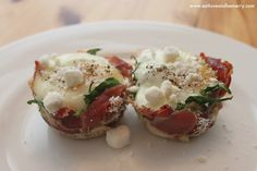 Baked Eggs and Spinach in Prosciutto Cups  Nana Nita's Recipes and Homemaking Hints and ChinDeep shared