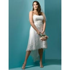Discount Plus Size Hawaiian Wedding Dress that are long in back short in the front.. hilow