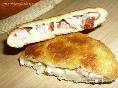 Απλά δοκιμάστε τα!!!    Υλικά: Για την ζύμη: 3 φλ.τσαγιού αλεύρι γ.ο.χ. 1 αυγό λίγο αλάτι 1 φλ.τσαγιού γάλα φρέσκο Για την γέμιση: τυρί φέ... Hot Dog Buns, Hot Dogs, Greek Recipes, I Foods, Food And Drink, Bread, Breakfast, Savoury Pies, Pastries