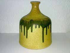Modernist Vase Studio Pottery Heavy Schwer Fat Lava Era ? 60s 70s ? H: 18 cm *.*