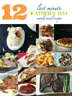 Last Minute Father's Day Recipes by Nutmeg Nanny