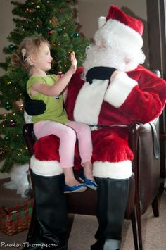 High-fiving Signing Santa at the Marion Downs Hearing Center 2013 Holiday Party #CUHSLibrary