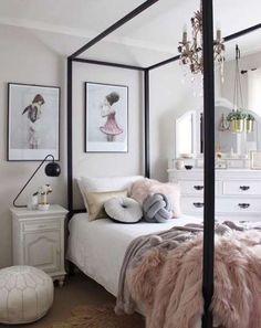New Room Decor Tiener Meisje Ideas Teen Girl Rooms, Little Girl Rooms, Girls Bedroom, Bedroom Decor, Bedroom Inspo, Dream Rooms, My New Room, Bed Design, Apartment Living