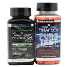 Pure Test Combo - PCT Revolution Black will revitalize testosterone levels, leading to increased energy, strength, and sex drive    Pure Test is PURE testosterone, designed to significantly boost natural testosterone levels in human beings.  $31.96