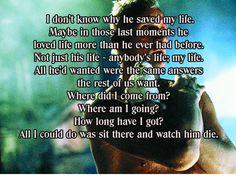 Deckard's quote about Roy saving him in Blade Runner