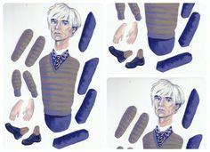 Andy Warhol DIY Printable PDF Paper Puppet Doll, via Etsy.