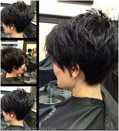 shaved back long front womens haircut - Google Search