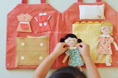 Quiet book page? felt dress up dolls, these would be my little girl's dream come true Sewing For Kids, Diy For Kids, Crafts For Kids, Felt Dolls, Paper Dolls, Fabric Dolls, Sewing Projects, Craft Projects, Felt Projects