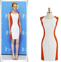 White & Red Paneled Dress · Street Style Fashion · Online Store Powered by Storenvy