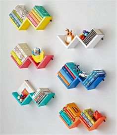 Display books, toys and more in the bedroom or playroom with kids shelves from Crate and Barrel. Wall cubbies also brighten and organize your child's space. Crate Bookshelf, Wall Bookshelves, Pallet Shelves, Room Shelves, Reclaimed Wood Furniture, Pallet Furniture, Kids Furniture, Furniture Making, Bedroom Furniture