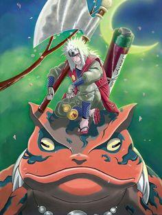 The great toad sage, Jiraiya Anime Naruto, Naruto Shippuden Characters, Sarada Uchiha, Naruto Shippuden Sasuke, Naruto Kakashi, Anime Characters, Manga Anime, Wallpaper Naruto Shippuden, Naruto Wallpaper