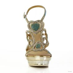 bohemian wedding 5.5 inch Gold Beading Leather shoes $52.98