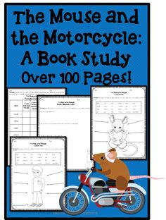 This 100+ page book study of The Mouse and the Motorcycle by Beverly Cleary is chock full of vocabulary, comprehension, and character trait activities!