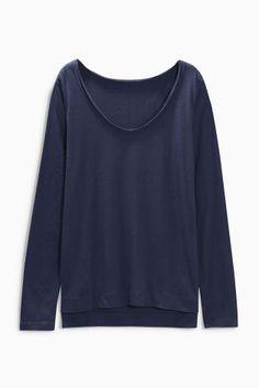 Buy V-Neck Modal Blend Long Sleeve Top online today at Next: Israel