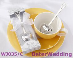Free Shipping 100box Heart-Shaped Tea Infuser WJ035/C wedding bomboniere   #practicalfavors #partyfavor 上海倍樂婚品