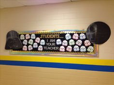 So excited to do this next year! Star Wars Bulletin Board for Back to School Space Theme Classroom, Star Wars Classroom, Disney Classroom, Classroom Decor Themes, New Classroom, Classroom Design, Classroom Ideas, Science Classroom, Back To School Bulletin Boards