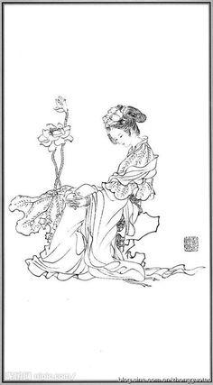 白描 神仙 何仙姑