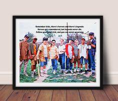 Baseball Sandlot Movie Poster Inspirational quote - 20x30 / Canvas Print