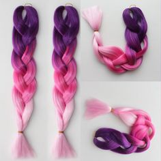 24 polegada 100 g rose ombre tressage cheveux kinky twist cheveux two tone kanekalon jumbo tresse synthétique tressage cheveux faits saillants pour cheveux(China (Mainland))
