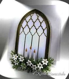 Image Search Results for poppy stamps gothic window card