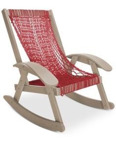 Coastal Duracord Outdoor Rope Rocker, Quick Ship - Red