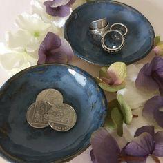 2  ceramic trinket dishes, tea light holder, ceramic ring dish, jewellery dish, trinket bowl, salt and pepper dishes, small ceramic bowl by RJPotteryshop on Etsy https://www.etsy.com/uk/listing/532155846/2-ceramic-trinket-dishes-tea-light