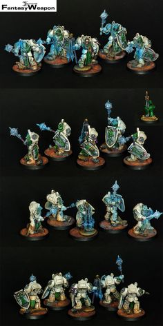 Deathwing Knights Pro Painted NMM space marines terminators dark angels | eBay