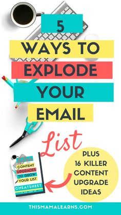 Looking for ways to grow your email list? Not sure why nobody is signing up for your newsletter on your side bar? Look: readers expect more these days. Click through to learn 5 different enticements you can offer to get more subscribers today.