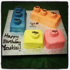 Lego birthday cake!