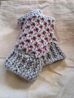 ハンドウォーマーの編み方 レディース