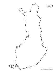 This printable outline map of Finland is useful for school assignments, travel planning, and more. Free to download and print Map Tattoos, Body Tattoos, Cute Tattoos, Beautiful Tattoos, Finnish Tattoo, Finland Map, Thumb Tattoos, Unusual Tattoo, Small Bees