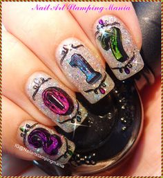 Nail Art Stamping Mania: UberChic Beauty Numbers-01 Plate and New Year's Day Manicure - Review and Tutorial