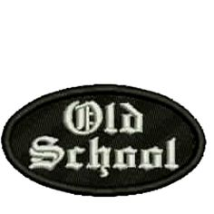Old School Black/White Embroidered Patch, $5.25. FREE SHIPPING!