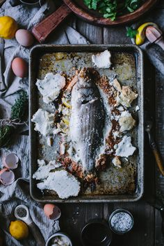 Salt Bakes Sea Bass