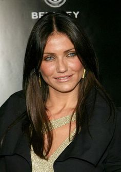 Hair dyed dark she is still a bright spring: Cameron Diaz ~ PART NATIVE AMERICAN (CHEROKEE)