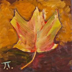 Maple Leaf Oil on canvas 9x9in
