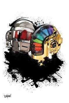 daft punk get lucky album Daft Punk Faces, Daf Punk, Thomas Bangalter, Sketch Manga, Punk Tattoo, Punk Art, Art Pictures, Anime Manga, Music Artists