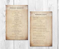 Wedding programs  wedding order of service by DesignedWithAmore