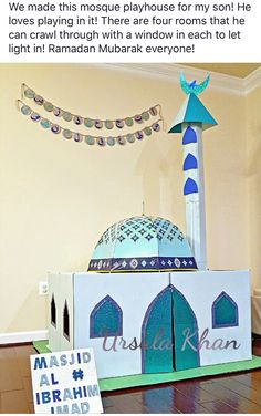 DIY build your own cardboard play masjid mosque
