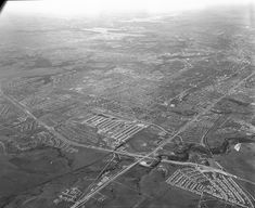 Aerial view of south Fort Worth looking northwest; intersection of and Loop 820 near bottom of photo. Photo Scan, Across The Border, Interesting History, Fort Worth, Nfl Football, Aerial View, North West, Airplane View, Family Photos