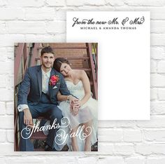 Wedding Photo Thank You Cards  Wedding Thank You by jambercreative