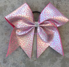 "3"" Width Cheer Bow 7""x7"" Texas Size Cheer Bow Cracked Ice Hologram by JustImagineThatBows on Etsy https://www.etsy.com/listing/478067888/3-width-cheer-bow-7x7-texas-size-cheer"