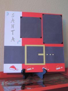 Santa's Coat - Christmas Scrapbook Page on Etsy, $7.00, Paw Print Creations Inc