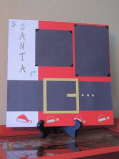 Santa's Coat - Christmas Scrapbook Page on Etsy, $7.00, Paw Print Creations Inc