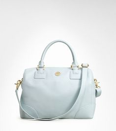 Tory Burch robinson satchel in sky blue $550