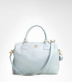 Tory Burch robinson satchel in sky blue $550