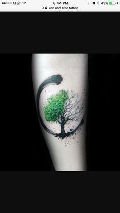 Buddist zen and Bodhi tree tattoo