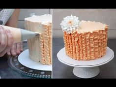 RUFFLE CAKE TUTORIAL by CakesStepbyStep