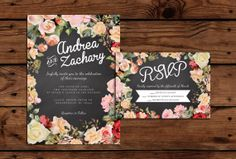 Custom Printable Wedding Invitation and RSVP by SomebodyLovedShop, $20.00
