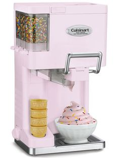 The old-school look of the Cuisinart Mix It In Soft Serve Ice Cream Maker would be a delightful summer staple treat for your kitchen.